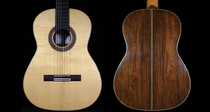 制琴师stenzel制作的马达加斯加玫瑰木熊爪纹吉他